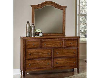 Picture of Benchback Triple Dresser