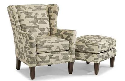 Ace Fabric Chair & Ottoman (0130-10)