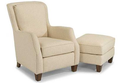 Allison Fabric Chair & Ottoman ( 0124-10, 0124-08)