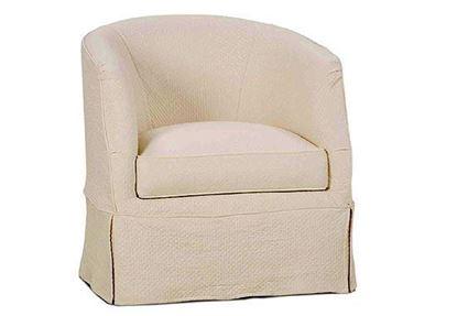 Ava Slipcover Swivel Chair (P155-016)