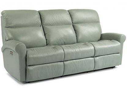Davis Leather Reclining Sofa (3902-62)