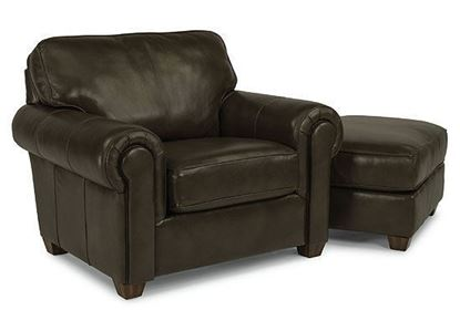 Carson Leather Chair (B3937-10) with matching Ottoman