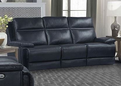 Paxton Navy Power Sofa (MPAX#832PHL-NAV) by Parker House furniture