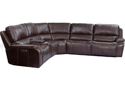 POTTER collection WALNUT 6pc Sectional MPOT-PACKA(H)-WAL by Parker House furniture