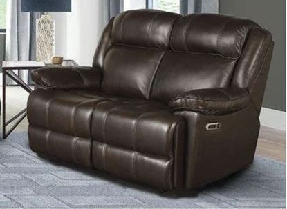 Eclipse - FLORENCE BROWN Power Loveseat (MECL#822PH-FBR) by Parker House furniture