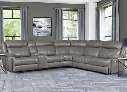 ECLIPSE - FLORENCE HERON 6pc Leather Sectional (ECL-PACKA(H)-FHE by Parker House furniture