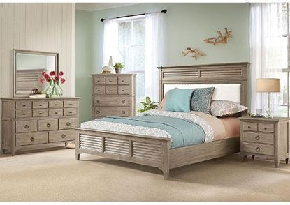 Myra Bedroom Collection with Upholstered Bed by Riverside furniture